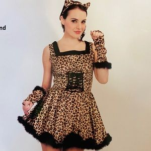 Leopard halloween costume dress